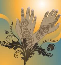 henna designs vector image