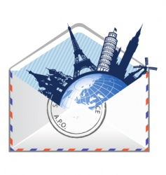 Global email concept vector
