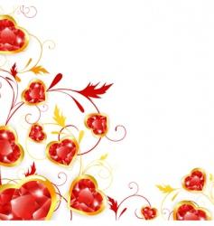 Jewelry hearts vector