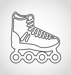 skate icon vector image