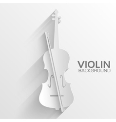 Paper violin background concept vector