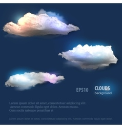 Cloud set for your design vector
