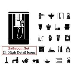 Icon set bathroom vector
