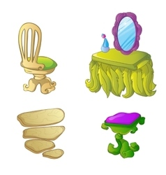 Furniture for fairy house vector