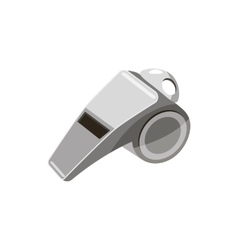 Metal whistle icon cartoon style vector