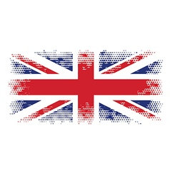Great britain flag halftone vector