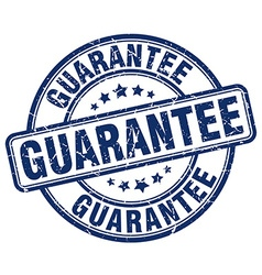 Guarantee blue grunge round vintage rubber stamp vector