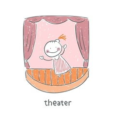 Actor in the theater vector