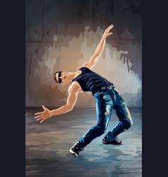 Break dance vector