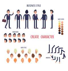 business style create your character poster vector image