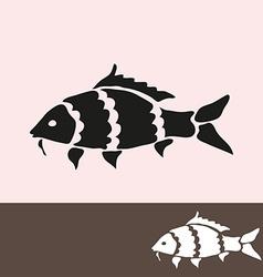 Carp symbol vector