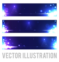 Christmas banners with abstract Christmas tree vector image vector image