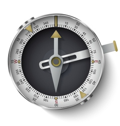 Classic compass with long phosphor isolated on whi vector image