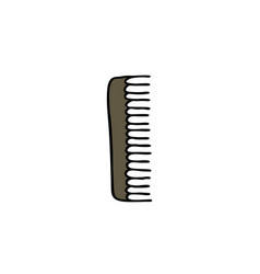 comb doodle icon vector image vector image
