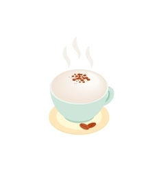Cup of coffee isometric 3d icon vector