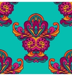 Damask floral ethnic seamless pattern vector