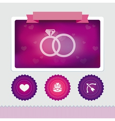 design template with wedding icons vector image vector image