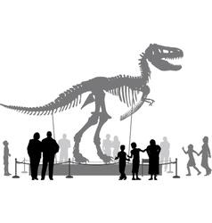 Dinosaur museum vector
