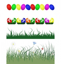 Easter decorative borders vector image vector image