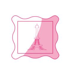 Eiffel tower stamp vector