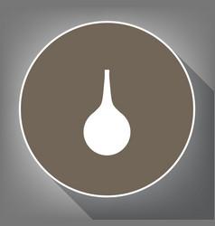 Enema sign white icon on brown circle vector