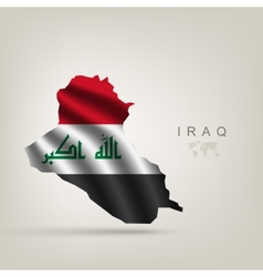 Flag of iraq as a country vector
