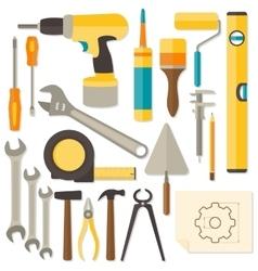 Flat design diy and home renovation tools vector