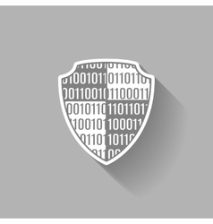 Flat Isolated icon data shield vector image