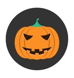 Helloween pumpkin icon vector image