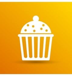 Logo cake cupcake symbol label design vector