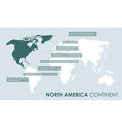 North american continent facts vector