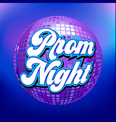 Prom night party background for poster or flyer vector