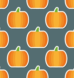 Pumpkin pattern seamless texture with ripe vector
