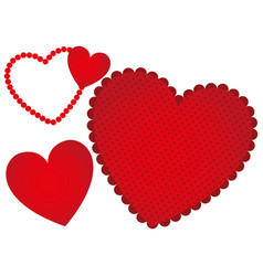 red heart background icon vector image vector image