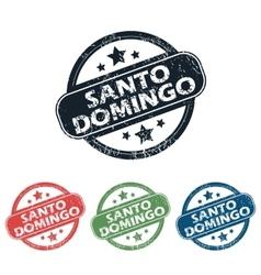 Round santo domingo stamp set vector