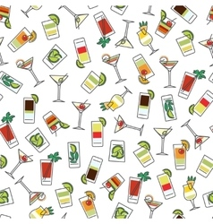 Seamless pattern with colorful drinks vector image