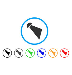 Searchlight beam rounded icon vector