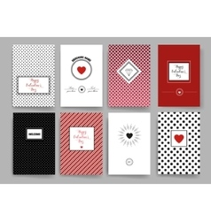 Set of trendy abstract cards with mystic logos vector