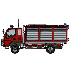 Small fire truck vector image vector image