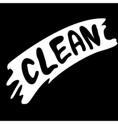 Wiped with clean vector