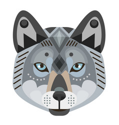 Wolf head logo decorative emblem vector