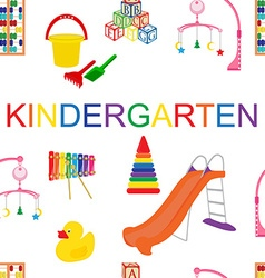 Seamless pattern for kindergarten vector