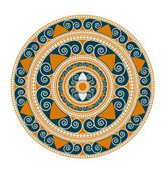mandala geometric round ornament vector image