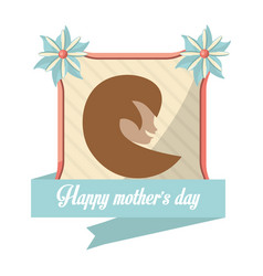 happy mothers day card woman figure vector image