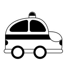 police patrol drawing icon vector image