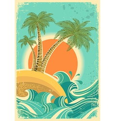 Vintage nature vector image