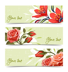 Banner with flowers vector