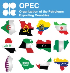 Opec countries vector