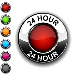24 hour button vector