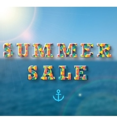 Summer sale banner for your design vector